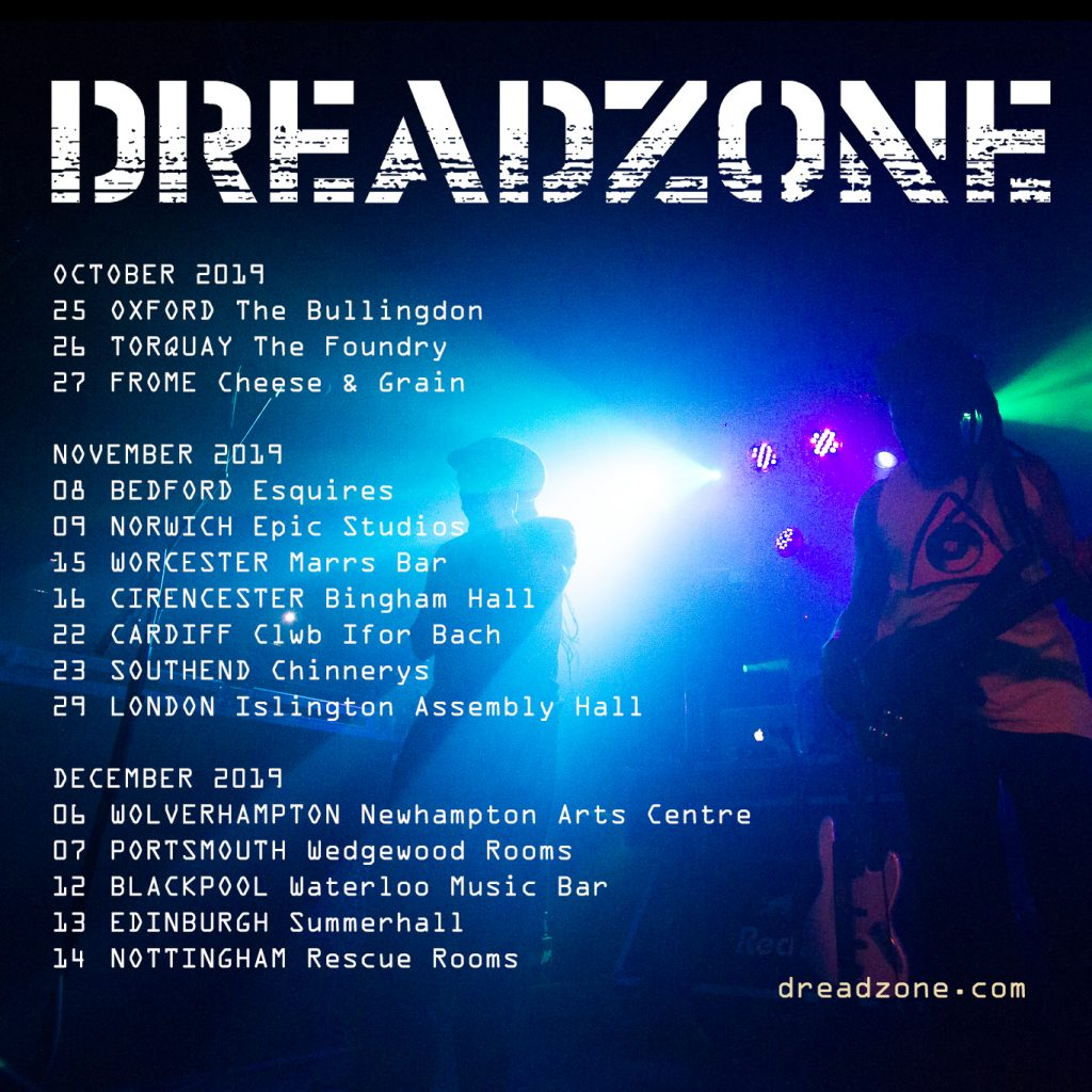 Dreadzone Autumn 2019 flyer